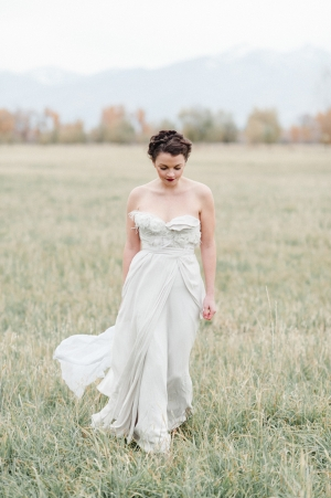 Bride in Claire La Faye Gown