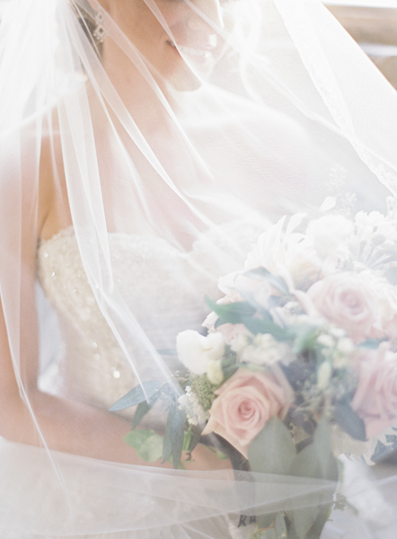Bride in Elegant Veil