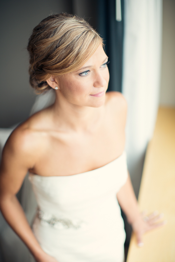 Bride in Strapless Gown