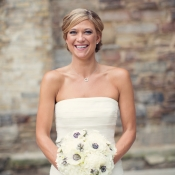Bride with Anemone Bouquet