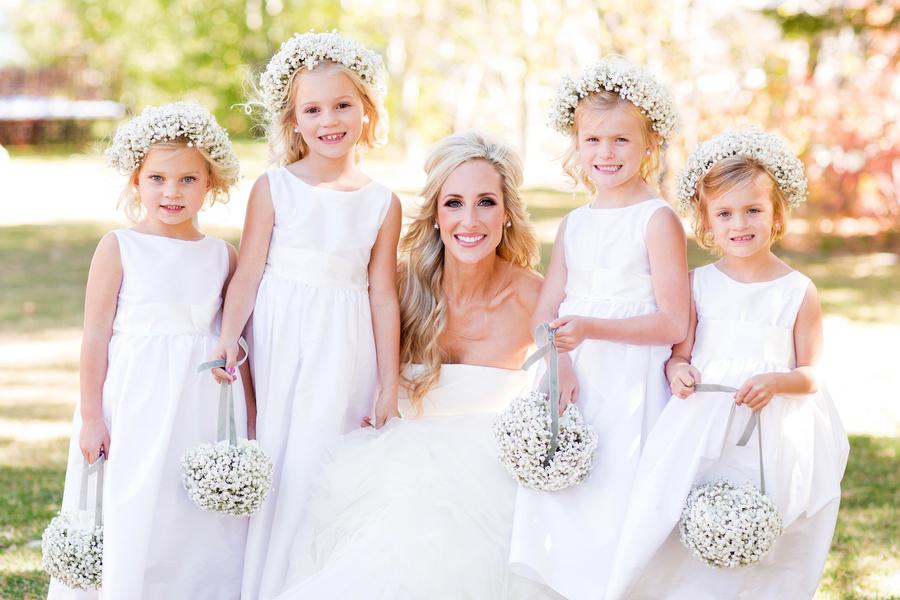 4300c464d0c Bride with Flower Girls - Elizabeth Anne Designs  The Wedding Blog