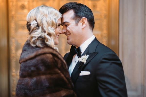 Brown Fur Shawl Bridal Ideas