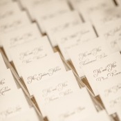 Calligraphy Reception Place Cards