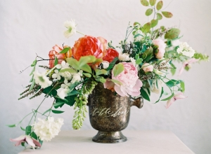 Calligraphy Centerpiece Table Number