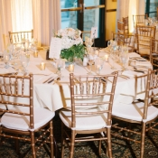 Champagne and Gold Centerpiece