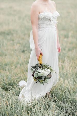 Claire La Faye Strapless Gown