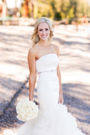 Column Style Bridal Gown With Mermaid Skirt