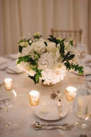 Cream Green and Gold Reception Table