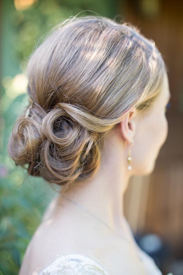 Curled Chignon Bridal Hair Ideas
