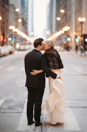 Downtown Chicago Wedding Portrait