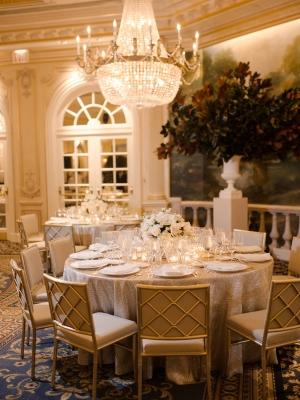 Elegant Gold Reception Decor