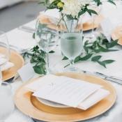 Elegant Gold and Cream Reception Decor