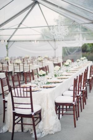 Elegant Lace Reception Table Linens
