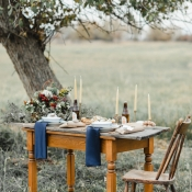 Elegant Rustic Outdoor Wedding Table