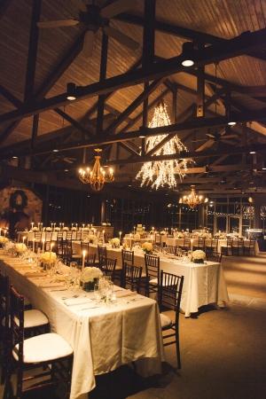 Elegant Rustic Stone and Wood Reception Venue
