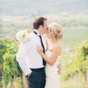 Elegant Vineyard Wedding Portrait From Melissa Gidney
