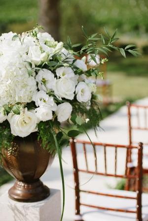 Elegant White Altar Arrangement