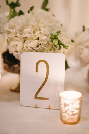 Embossed Gold Table Numbers