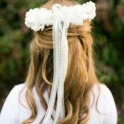Floral Wreath Flower Girl Hair Ideas