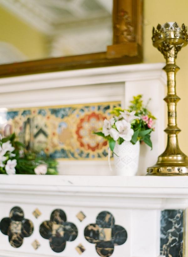 Flowers on Mantel