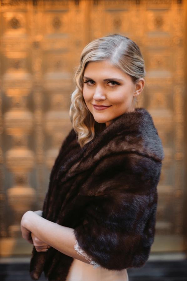 Fur Wrap Winter Wedding Ideas