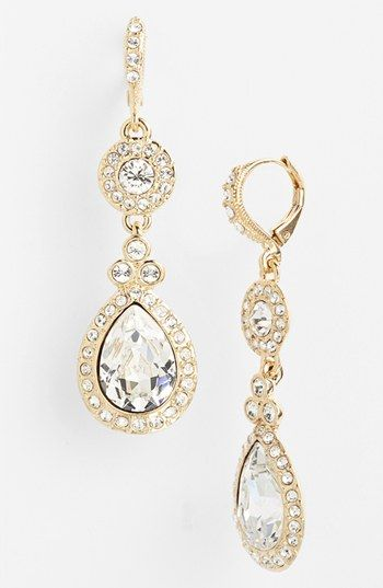 Givenchy Pave Double Drop Earrings