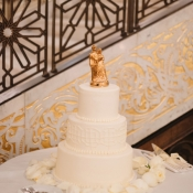 Gold Bride and Groom Cake Topper