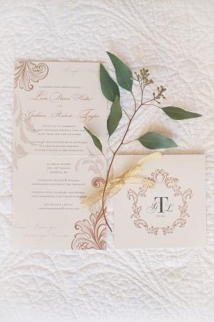 Gold Flourish Wedding Stationery