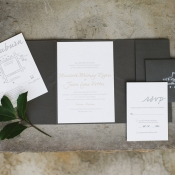 Gray and Cream Wedding Stationery