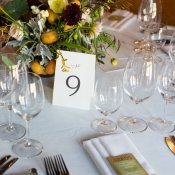 Green and Yellow Natural Table Decor