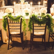 Greenery Garlands on Chairs