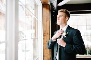 Groom in Classic Tuxedo