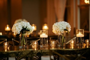 Hydrangea and Candle Decor