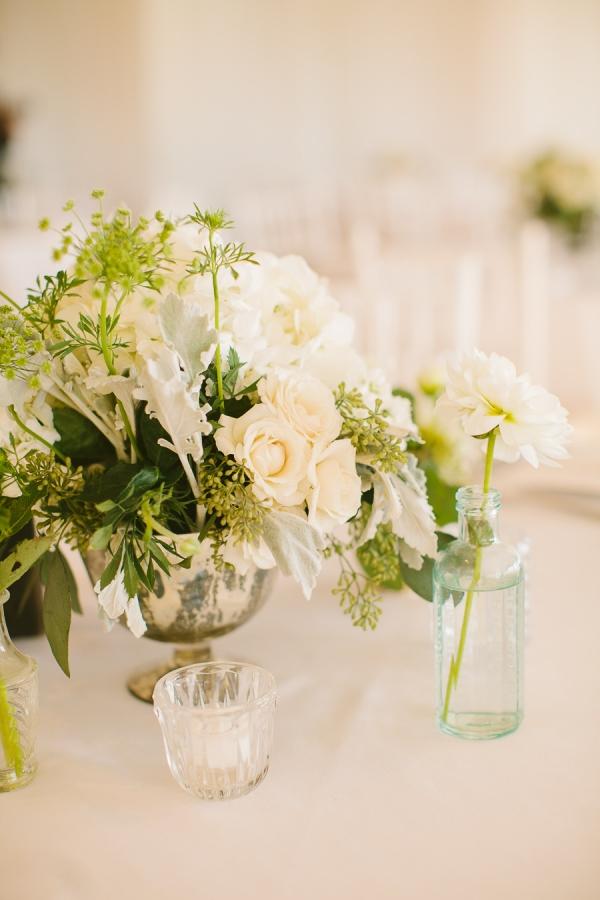 Ivory Flower Centerpiece