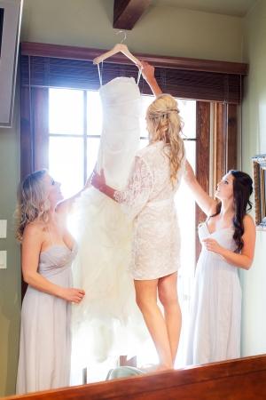 Lace Bridal Dressing Robe