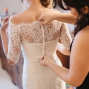 Lace Top on Bridal Gown