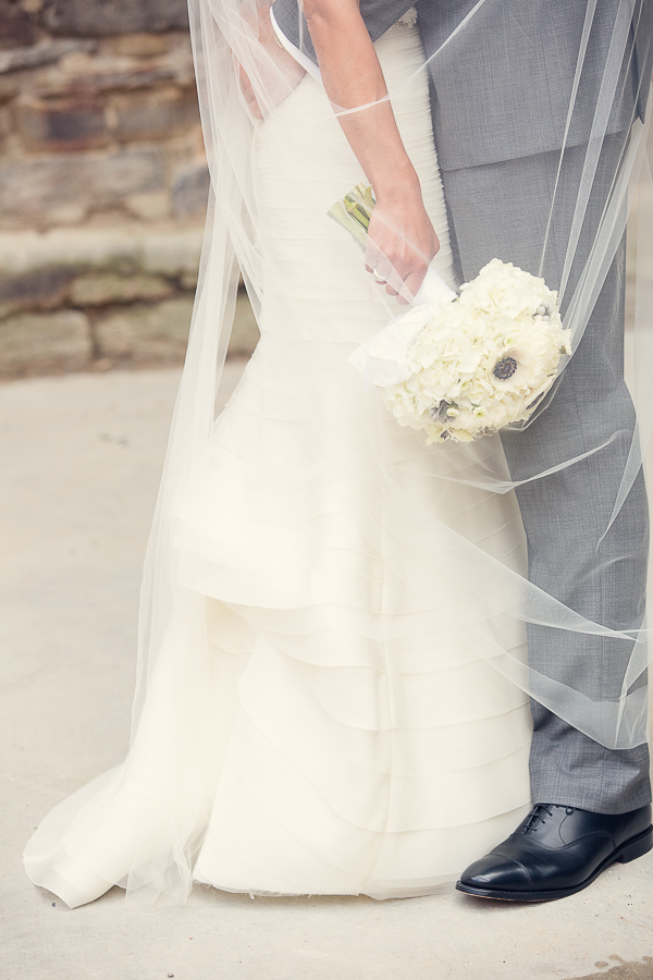Layered Skirt on Bridal Gown