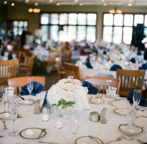 Light Pink Cream and Navy Reception Decor