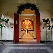 Magnolia and Hydrangea Decor Church Wedding Ideas