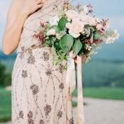 Metallic Neutral Wedding Dress