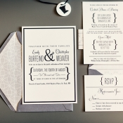 Modern Silver and Gold Wedding Stationery