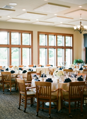 Navy and Peach Reception