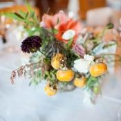 Organic Garden Florals Reception Ideas
