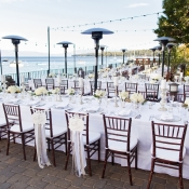 Outdoor Waterfront Reception