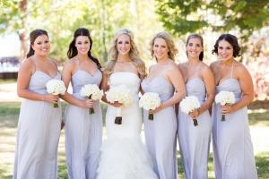 Pale Lavender Bridesmaids Dresses