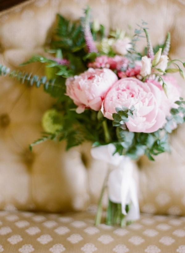 Peony Bouquet with Greenery