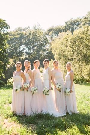 Pink Strapless Bridesmaids