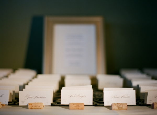 Place Cards in Wine Corks