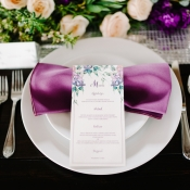 Place Setting with Purple Napkin