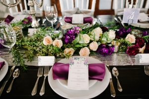 Radiant Orchid Wedding Tabletop